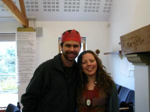 Eilis and Michael (wearing a hat Eilis made for him) November 2012